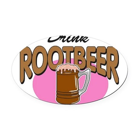 Root Beer Oval Car Magnet