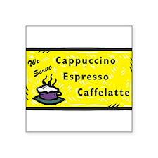 """Cappuccino Square Sticker 3"""" x 3"""""""