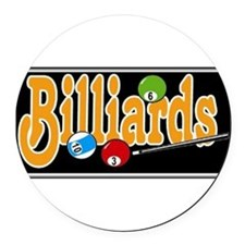 Billiards Round Car Magnet