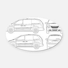 Chrysler Voyager Oval Car Magnet