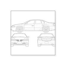"""Pontiac Bonneville Square Sticker 3"""" x 3"""""""