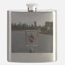Oldsmobile emblem Flask