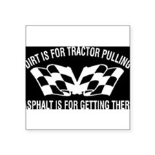 "Tractor Square Sticker 3"" x 3"""
