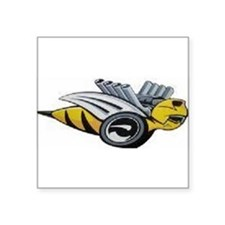 "Bumble Bee Square Sticker 3"" x 3"""
