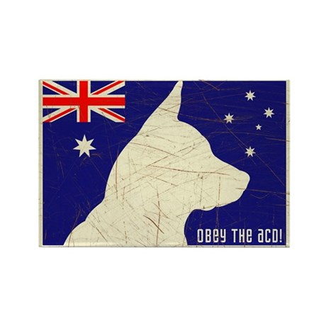 Obey the ACD! Tricolor Retro Magnet