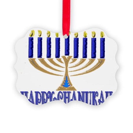 Menorah New Picture Ornament