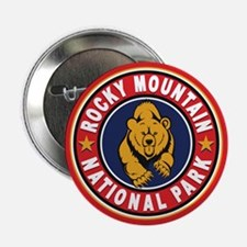 "Rocky Mountain Red Circle 2.25"" Button"