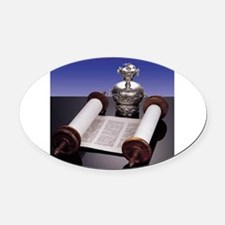 Torah Oval Car Magnet