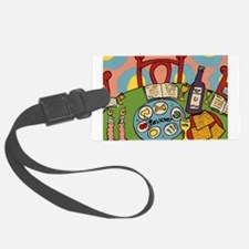 Seder Table Luggage Tag