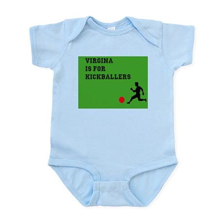 Virginia is for kickballers Infant Bodysuit