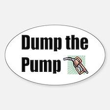 Dump the Pump Oval Decal