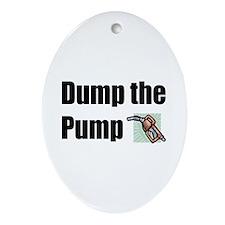 Dump the Pump Oval Ornament