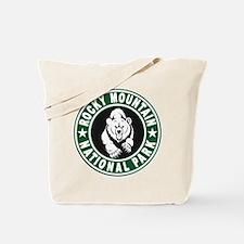 Rocky Mountain Green Circle Tote Bag