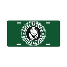 Rocky Mountain Green Circle Aluminum License Plate