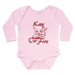 Kay On Fire Long Sleeve Infant Bodysuit