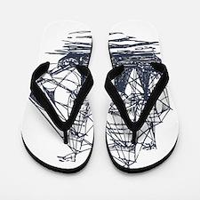 Nautical Ship Flip Flops