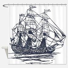 Nautical Ship Shower Curtain