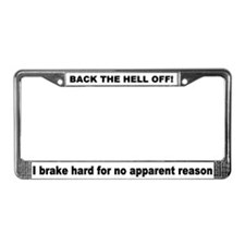 Safety License Plate Frame