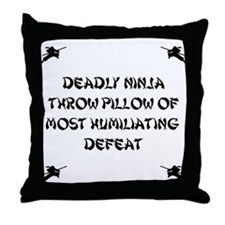 Deadly Ninja Fighting Throw Pillow