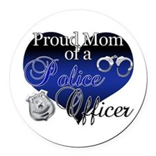 Police Mom Round Car Magnet