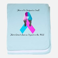 Pregnancy and Infant Loss Awareness baby blanket