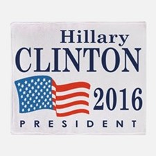 Hillary Clinton 2016 Throw Blanket