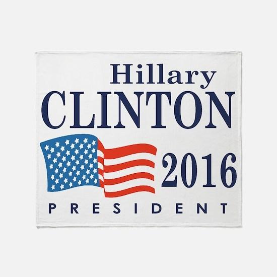 Hillary Clinton 2016 Throw Blanket