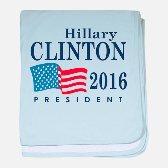 Hillary Clinton 2016 baby blanket