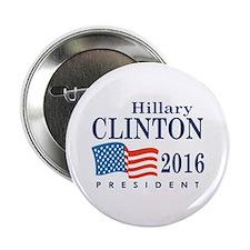 """Hillary Clinton 2016 2.25"""" Button"""