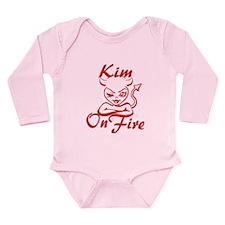 Kim On Fire Long Sleeve Infant Bodysuit
