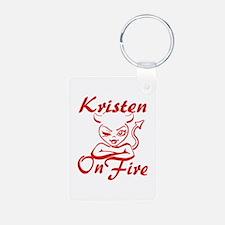 Kristen On Fire Keychains