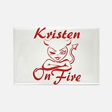 Kristen On Fire Rectangle Magnet