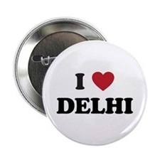 """I Love Delhi 2.25"""" Button"""