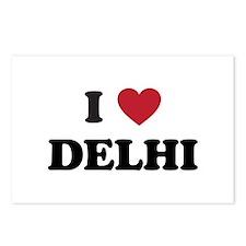 I Love Delhi Postcards (Package of 8)