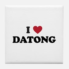 I Love Datong Tile Coaster
