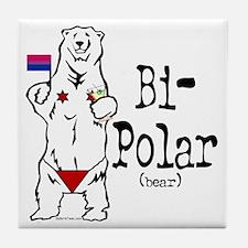 Bi-Polar (bear) Tile Coaster