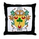 O'Dell Coat of Arms Throw Pillow