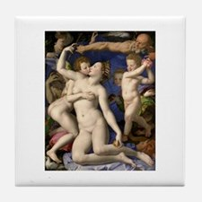 Agnolo Bronzino Allegory Of Lust Tile Coaster