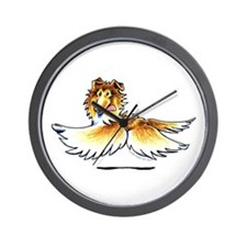 Happy Collie Wall Clock