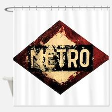 Madrid Metro Shower Curtain