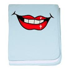 Lips baby blanket