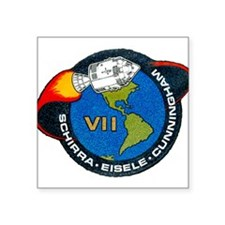 "Apollo 7 Mission Patch Square Sticker 3"" x 3"""