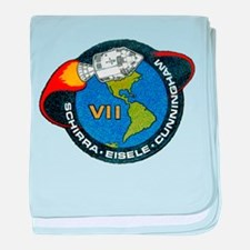 Apollo 7 Mission Patch baby blanket