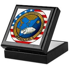 Apollo 1 Mission Patch Keepsake Box