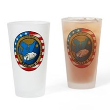 Apollo 1 Mission Patch Drinking Glass