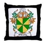 O'Crotty Coat of Arms Throw Pillow