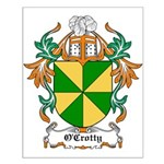 O'Crotty Coat of Arms Small Poster