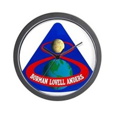 Apollo 8 Mission Patch Wall Clock