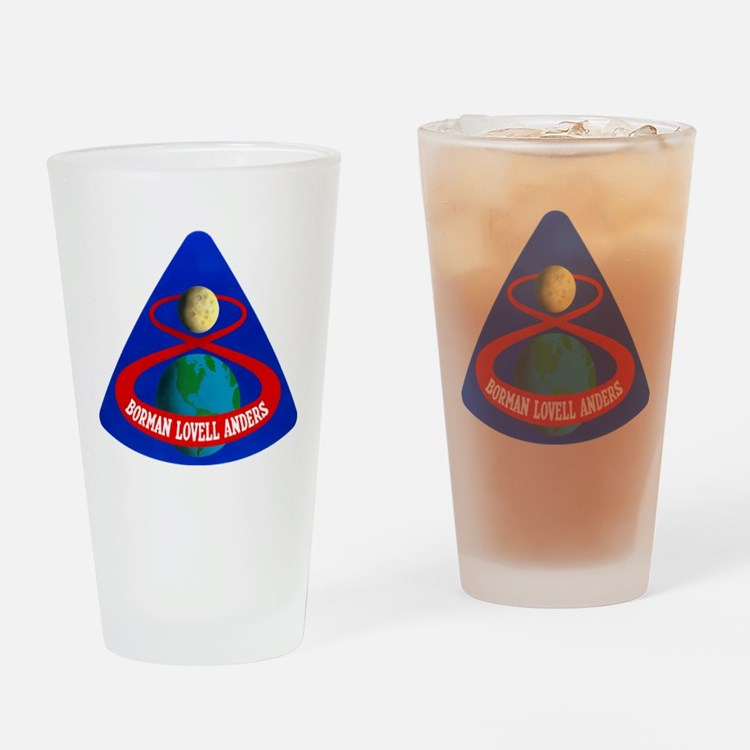Apollo 8 Mission Patch Drinking Glass