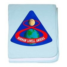Apollo 8 Mission Patch baby blanket